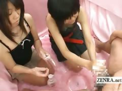 subtitled-cfnm-japanese-amateur-duo-soapy-handjob