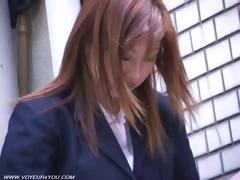 Uniform Girls Pubic Hairs Outddor