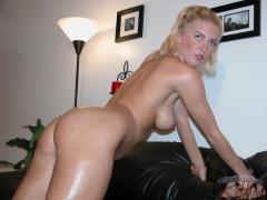 Hot Blonde GF Giving Blowjob - N