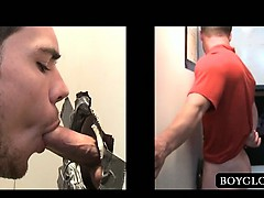 Straight Dude Fucks Gay Tight Butt On Gloryhole