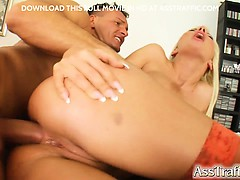 Helena's tight ass get a cock directly in it. She gets ass