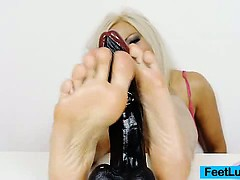 Sexy Blonde Nicky Angel Incredible Feet