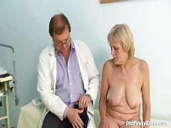 Mature Old Brigita Getting Pussy Exam From Experienced Gyno