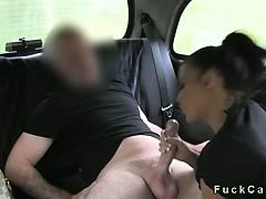 Pretty Busty Amateur Pierced Pussy Banged In Fake Taxi