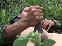 Gay Private Makes A Rest n wank Stop
