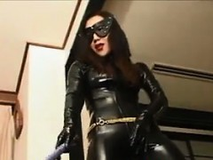 Asian Dominatrix In Leather