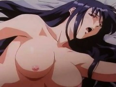 Awesome brunette riding the cock – anime hentai movie