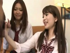 subtitled-cfnm-japanese-schoolgirls-tagteam-fellatio