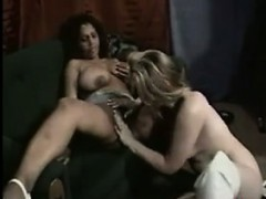 Busty Lesbians With A Strapon