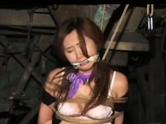 Asian Teen Tied Up In Stockings