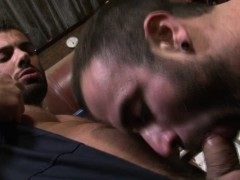 Muscular Hunk Alex Marte Mouth Is Full