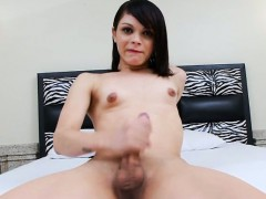 Small Tits Teen Tranny Playing With Her Cock To Orgasm