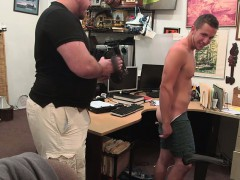 Pawnshop Straight Customer Stripping For The Gay Pawnbroker