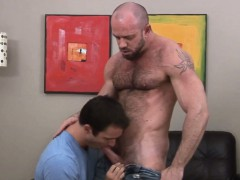 Cock Hungry Bear Sucks And Fucks His Pal