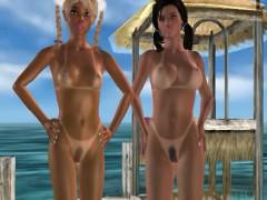 Bikini Babes Fucked At Beach