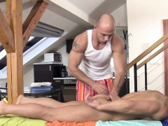 Straight Stud Massaged