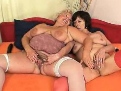Well-rounded blondie mamma gets her pussy drilled by other