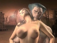 Wolverine Gets Into A Sticky Situation – Amazing 3D hentai