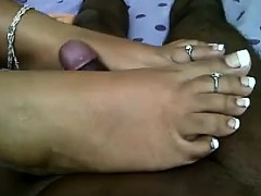 18yo Indian Giving A Great Foot Job