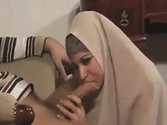 arab in a hijab blowing dick and screwing