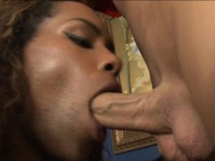 Black Shemale Becca In Uniform Fucked In The Ass Real Hard