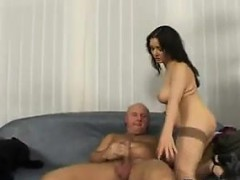 Busty Slut Being Fucked By An Older Guy