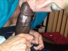 Granny Takes A Black Cock In Her Mouth