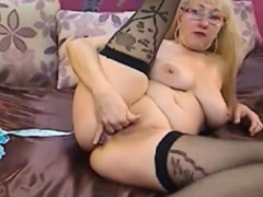 blonde-granny-undressing-and-fingers-pussy-for-us