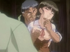 Roped Anime Gets Squeezed Her Tits