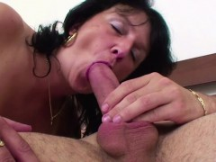 48yr Old Step mom Caught German Step son And Helps With Fuck