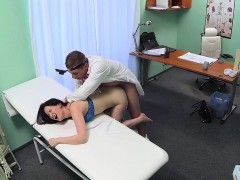 Dark Haired Patient Banged By Doctor In Fake Hospital