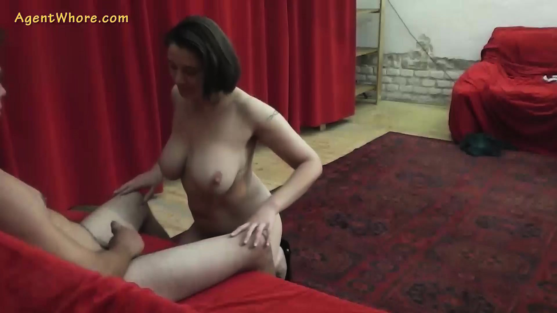 Agent Whore busty milf agent whore seduces a shy beginner guy @ drtuber
