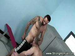 Hot Muscular Dick Sucking By Straight Guy