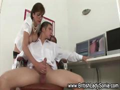 British Big Tits Mature Lady Handjob