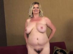 Blonde Granny In Striptease