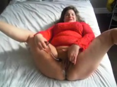 Bbw Milf Releasing A Small River Of Juices