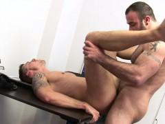 Muscular Office Hunk Pounding Tight Ass