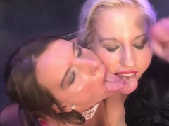 Two Horny Sluts Enjoy Getting Their Face Painted