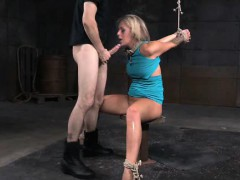 Tied Up Teen Rough Fuck And Messy Gagging!