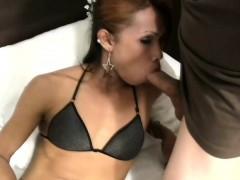 Ladyboy Strokes Shecock While Sucking Guys Shaft Till Facial