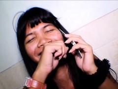 Heather Deep talks to boyfriend on phone while deepthroat
