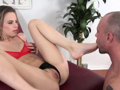 Jillian Janson Loves Her Clit And Soles Licked