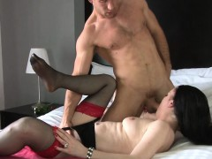 shameless mama gives her lascivious vagina for some hardcore