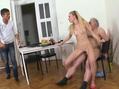 Fantastic Young Sweetie Deepthroats Old Lustful Guy