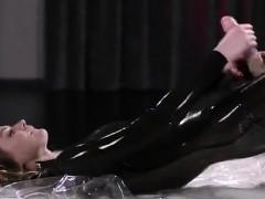 Maria Pie Latex Strapon Solo Until Cumshot Straplessdildo