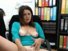 At The Office Cam Masturbation