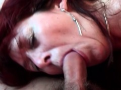 She Guides Cock Into Her Hairy Cunt