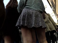 there-s-a-party-going-on-and-one-gal-gives-a-great-upskirt