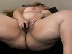 my-horny-fat-bbw-chunky-ex-gf-masturbating-her-shaven-pussy