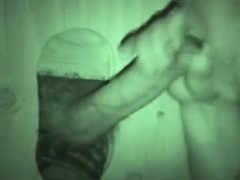 Horny Guy Hits Auntie Bobs Gloryhole For A Quick Blowjob